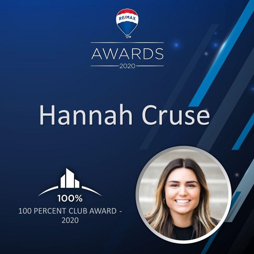 Hannah cruse, pinnacle awards, remax elite